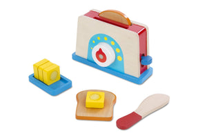 Melissa and Doug Let's Play House! Toaster, Bread & Butter Set - All-Star Learning Inc. - Proudly Canadian