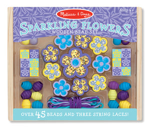 Melissa and Doug Sparkling Flowers Wooden Bead Set - All-Star Learning Inc. - Proudly Canadian