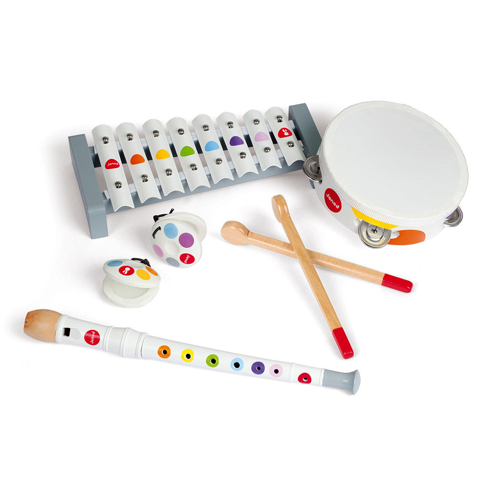 Janod Musical Set Confetti (Wood) - All-Star Learning Inc. - Proudly Canadian