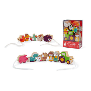 Janod Stringable Farm-Themed Beads (Wood) - All-Star Learning Inc. - Proudly Canadian