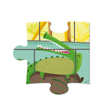 Janod Tactile Puzzle A Day At The Zoo 20 Pieces - All-Star Learning Inc. - Proudly Canadian