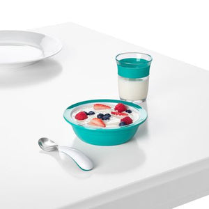 Oxo Tot Fork & Spoon Set - Teal - All-Star Learning Inc. - Proudly Canadian