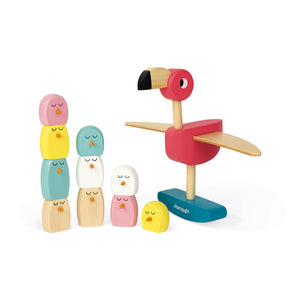 Janod Flamingo Balancing Game (Wood) - All-Star Learning Inc. - Proudly Canadian