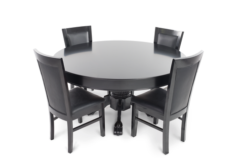 Nighthawk Round 4 Person Poker Table Set with Dining Top and 4 Dining Chairs  sc 1 st  iPokerTable & Poker Dining Table Set \u2013 iPokerTable