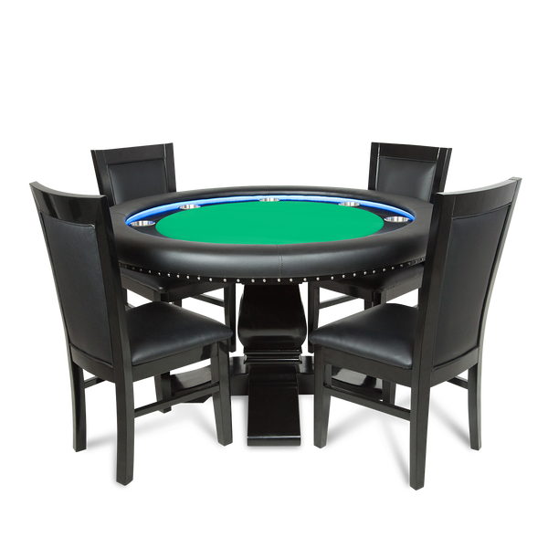 Green Round Table.Ginza Led Green Round 4 Person Poker Table