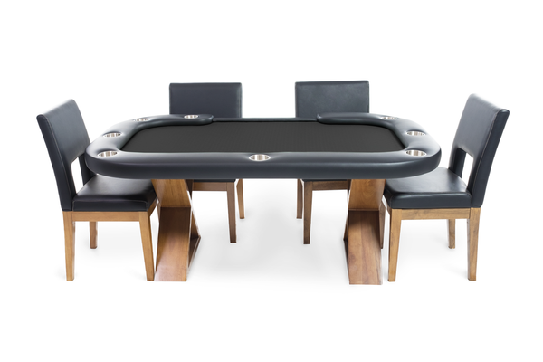 8 Person Square Table: Helmsley Rustic Modern Square 8 Person Poker Table With