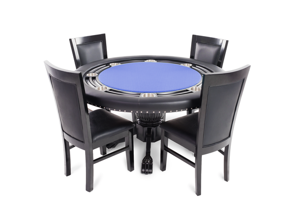 8 Chair Round Dining Table: Nighthawk Blue Round 8 Person Poker Table Set With 8