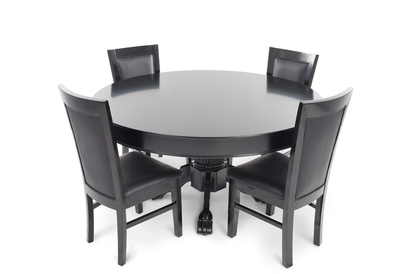 nighthawk round 4 person poker table set with dining top and 4 dining ipokertable. Black Bedroom Furniture Sets. Home Design Ideas