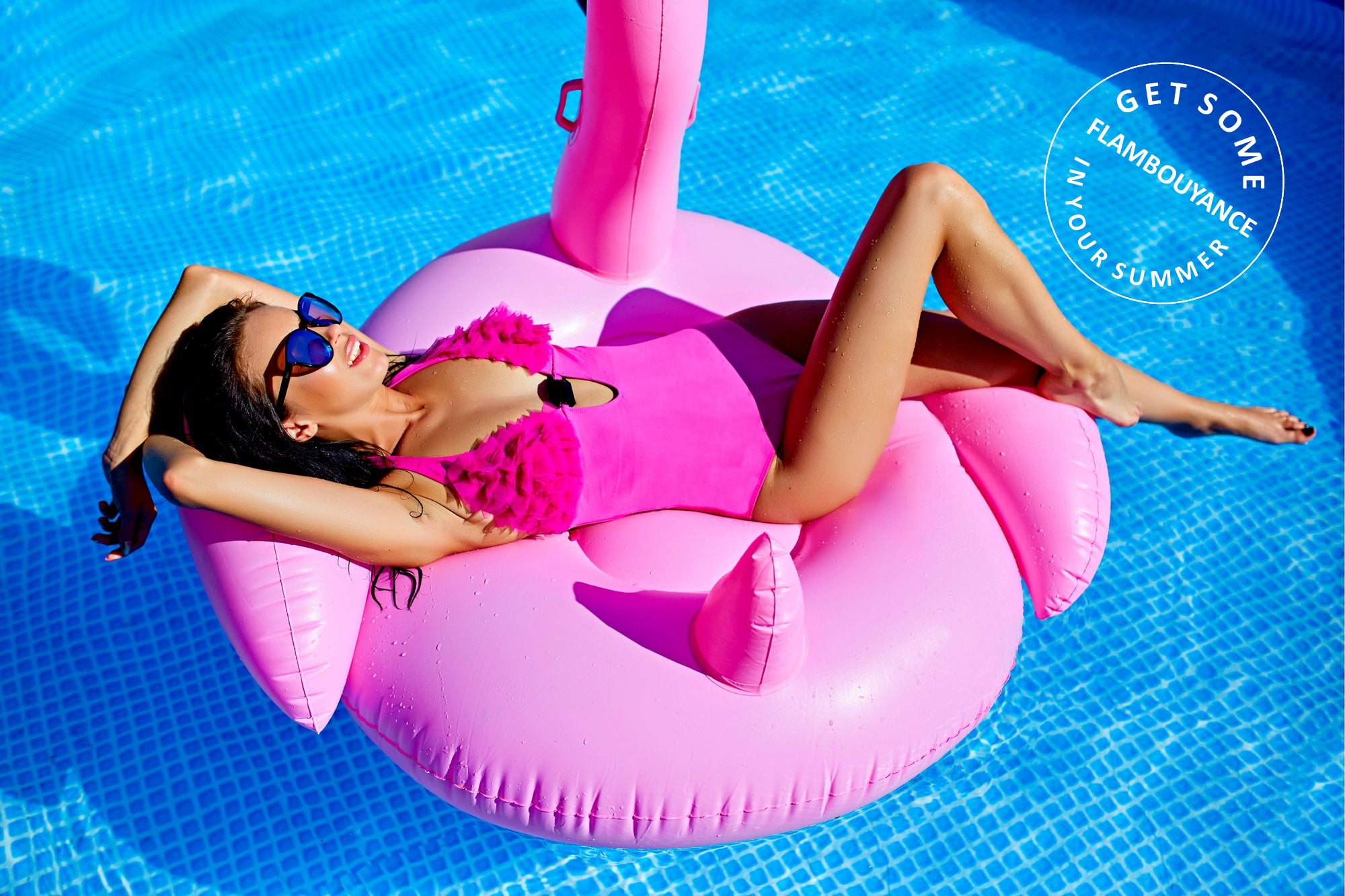 The Pink Flamingo white swan inflatable pool toys and floats