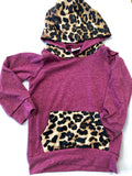 Maroon Leopard Pullover