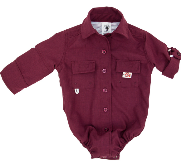 Maroon Fishing Onesie