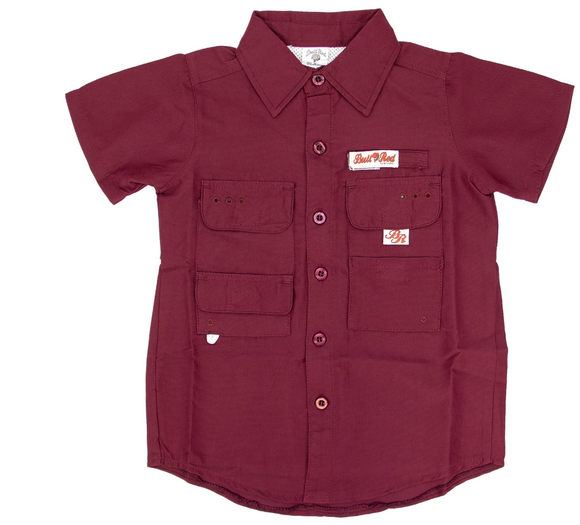Maroon Fishing Shirt