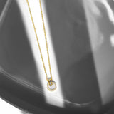 Solana 18K Gold Plated Sunburst Drop Pendant