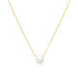 Keira 18K Gold-Plated Pearl Pendant