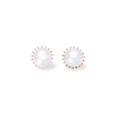 Briony in the Moonlight, White Gold-Plated, 0.9 Ctw Stud Earrings