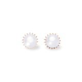 Kamila 18K Rose Gold-Plated Pearl Earrings