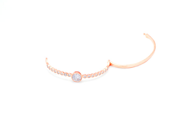 Alyssa 18K Rose Gold Plated Bangle