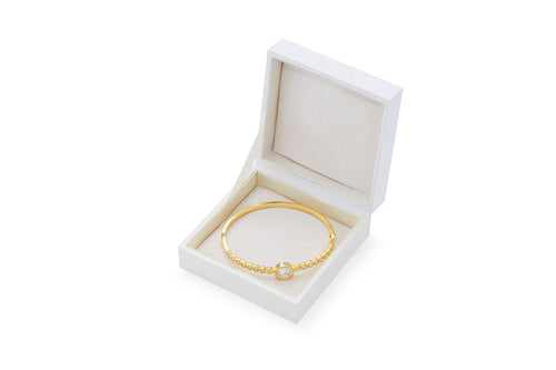 Audrey 18K Gold-Plated Gemstone Bangle 7Ctw