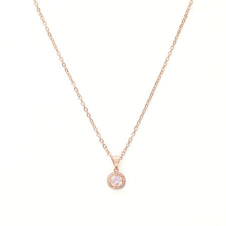 Faith 18K Rose Gold-Plated Drop Pendant 0.6 Ctw