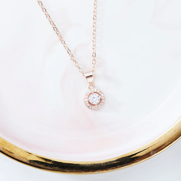 Eliana at Sunrise 18K Rose-Gold Plated Drop Pendant