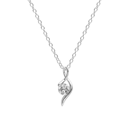 Abigail at the Winter Dance, Silver-Plated, 2 Ct Pendant