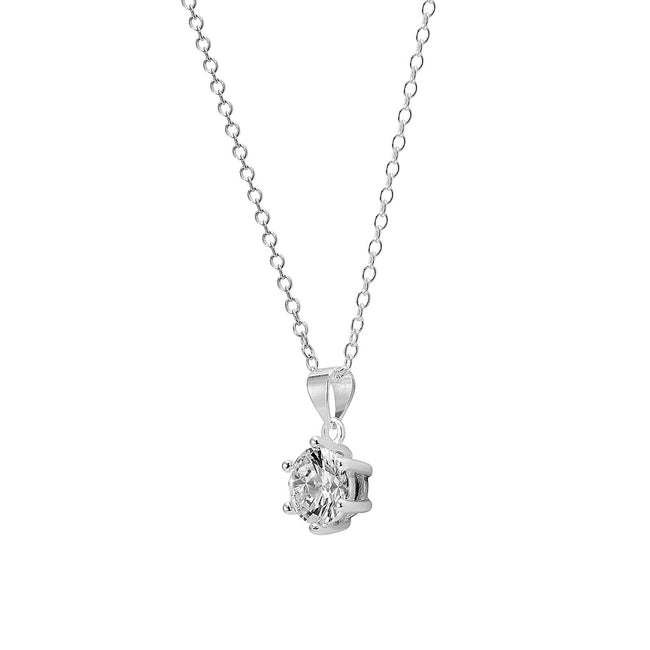 Abigail at the Winter Dance, White Gold-Plated, 2 Ct Pendant