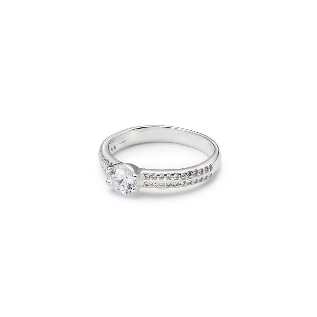 Mia Caught a Star, White Gold-Plated, 1 Ctw Ring