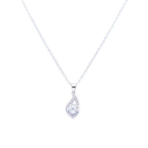 Danielle 18K White Gold-Plated Drop-Charm Pendant 3.6 Ctw