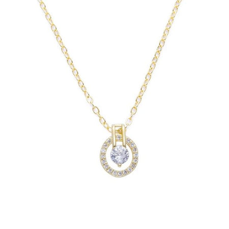 Faith 18K Gold-Plated Drop Pendant 0.6 Ctw