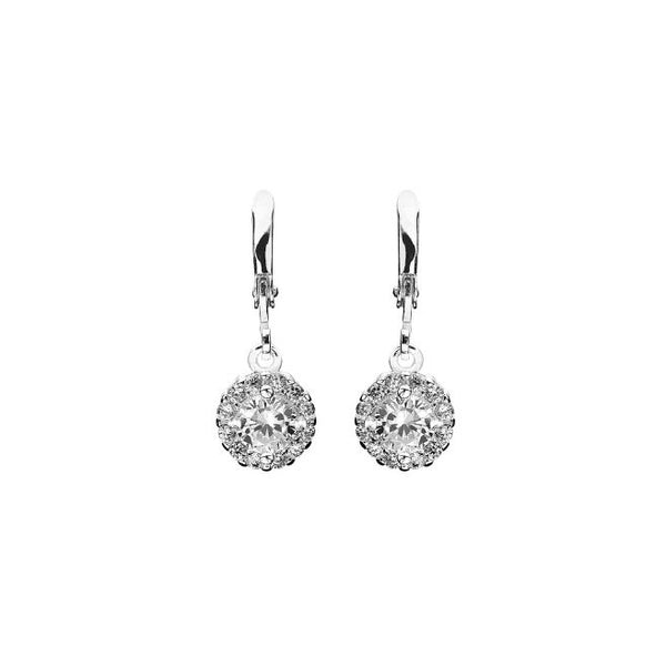 Laurelai on a Summer Night, Silver-Plated, 1.2 Ctw Earrings