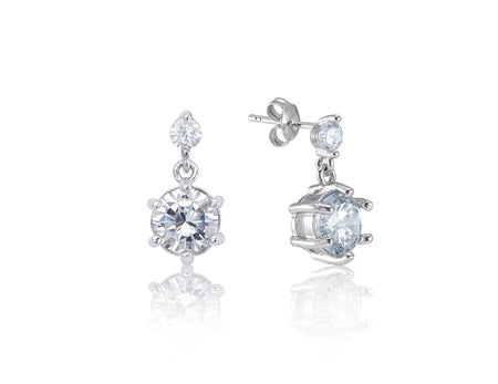 Adelyn 18K White Gold-Plated Gemstone Earrings