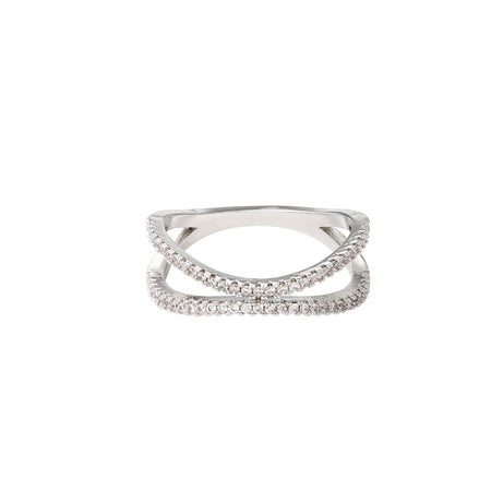 Symphony Luna 18K White-Gold 0.4 Ctw Plated Ring