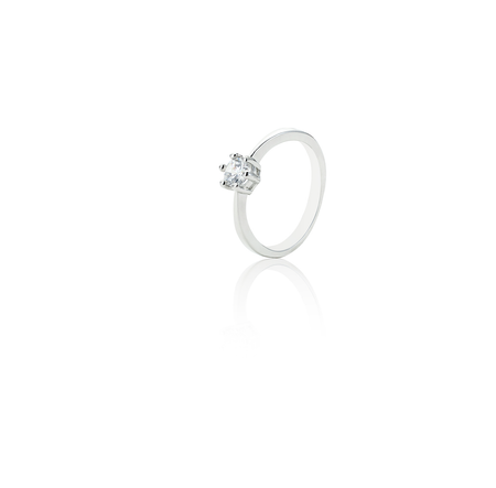 Piper Rose, Silver-Plated, 1.2 Ctw Dew Ring