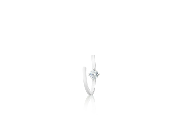 Symphony Lois 18K White-Gold Plated 0.4 Ctw Wrap Ring