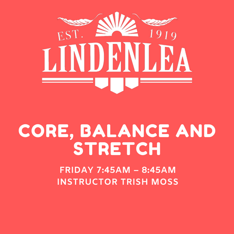 CORE, BALANCE AND STRETCH   - Friday 7:45AM – 8:45AM