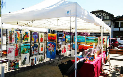MJs market stall at Art In The park Leavenworth Washington