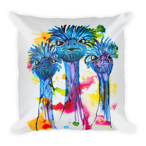 Three Ostriches • Square Pillow