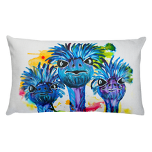 Three Ostriches • Rectangle Pillow