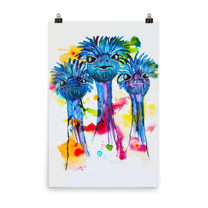 Three Ostriches • Art Print