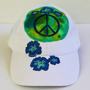 """Blue Green Peace Sign"" Hat"