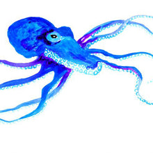 Load image into Gallery viewer, Blue Octopus Art Print