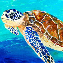 Load image into Gallery viewer, Brown Sea Turtle Art Print