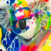 "Load image into Gallery viewer, ""Colorful Koala"" Art Print"