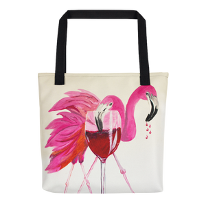 Flamingo Happy Hour Tote Bag