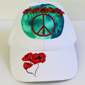 """Poppies Peace Sign"" Hat"