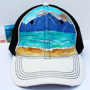 """Sunset At The Mountain Lake"" Hat"