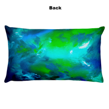 Blue Green Abstract • Rectangle Pillow