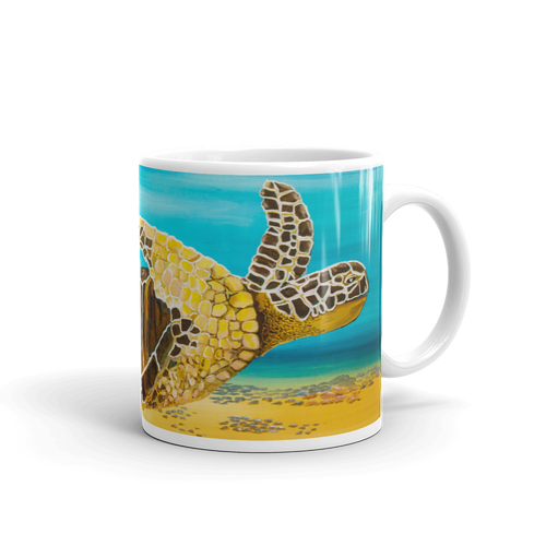 Large Brown Turtle II • Mug