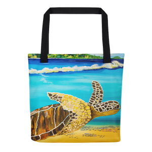 Large Brown Turtle II • Tote Bag