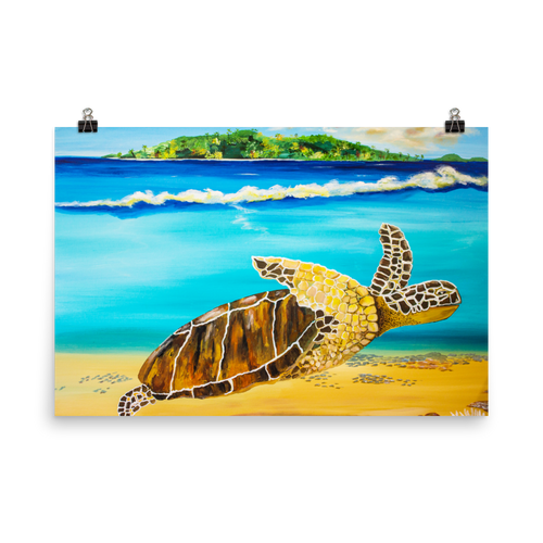 Large Brown Turtle II • Art Print
